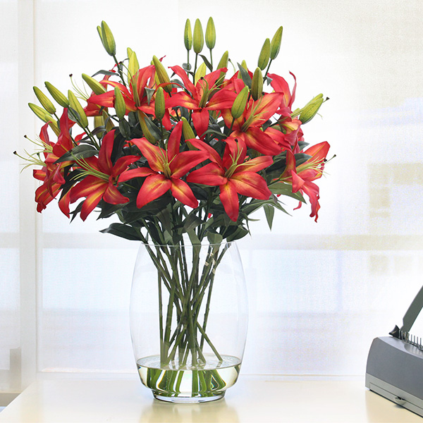 Artificial flame lily rental arrangementg silk sense global artificial flame lily rental arrangementg mightylinksfo