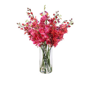 Artificial-Mixed-Persian-Orchid-In-Glass-Vase-LB226-Mixed-81cm